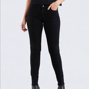 Levi's 711 Skinny Black Denim